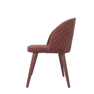 Velvet Chair Dusky Pink Side Design Essentials