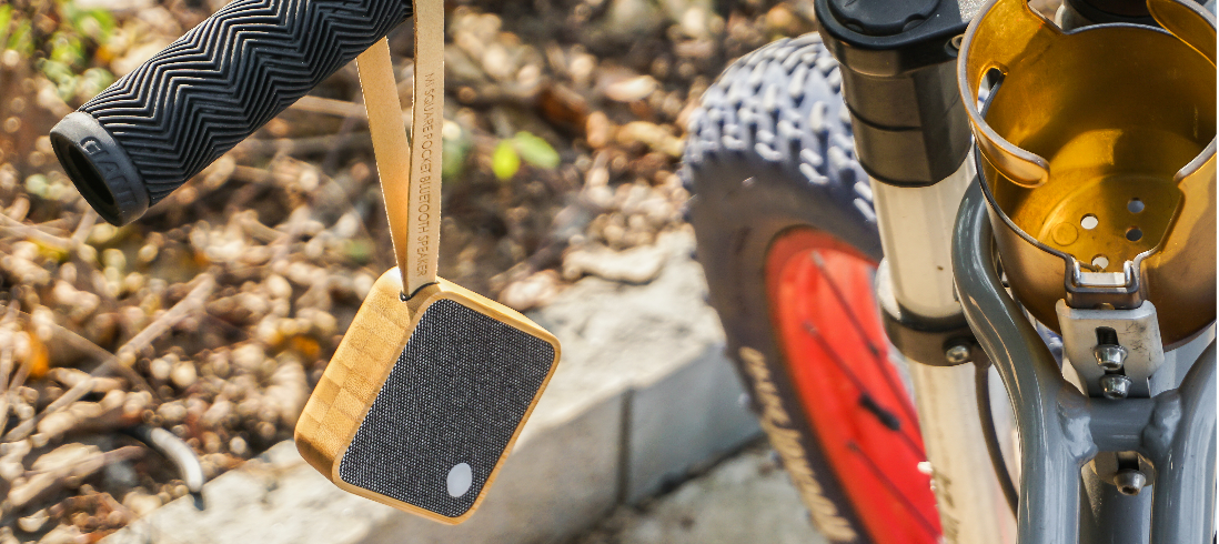 MI SQUARE Pocket Speaker Bamboo Design Essentials Gingko