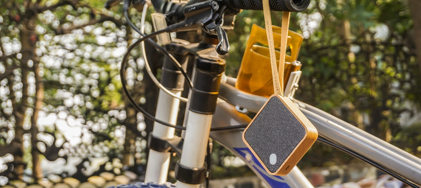 MI SQUARE Pocket Speaker Cherry Design Essentials Gingko