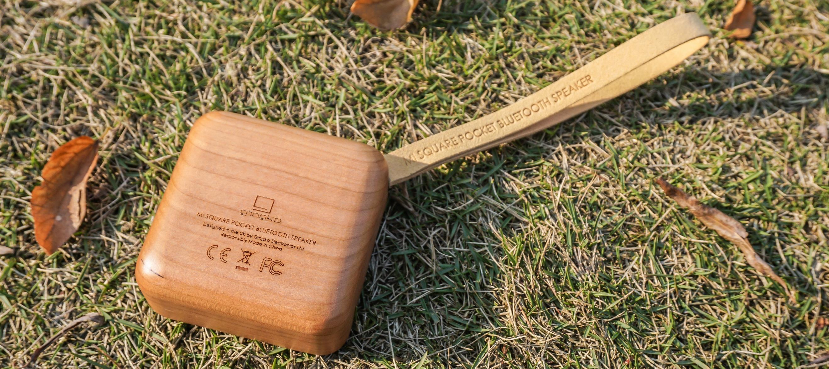 MI SQUARE Pocket Speaker Cherry Design Essentials Gingko