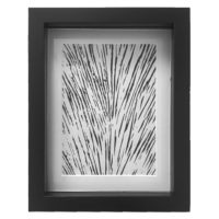 Original Unique Botanical Black Lines Lino Print Victoria Gray Design Essentials