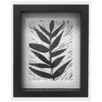 Original Unique Botanical Leaf Lino Print Victoria Gray Design Essentials