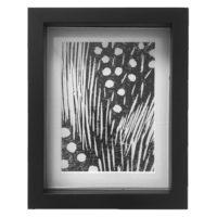 Original Unique Botanical Mark Making Lino Print Victoria Gray Design Essentials