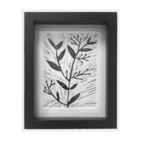 Original Unique Botanical Sprig 2 Lino Print Victoria Gray Design Essentials