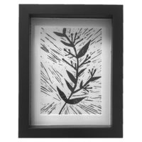Original Unique Botanical Sprig 3 Lino Print Victoria Gray Design Essentials