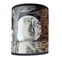 beige black owl lampshade lush designs design essentials saffron walden