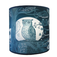 blue owl lampshade small lush designs design essentials saffron walden