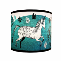 turquoise unicorn lampshade lush designs design essentials saffron walden