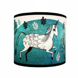 turquoise unicorn lampshade lush designs design essentials saffron walden