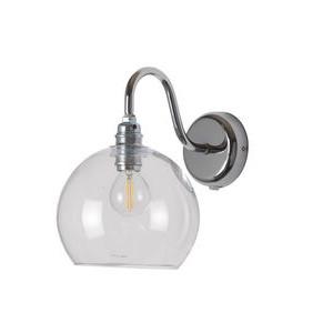 Clear Silver Rowan Wall Lamp Design Essentials Ebb & Flow