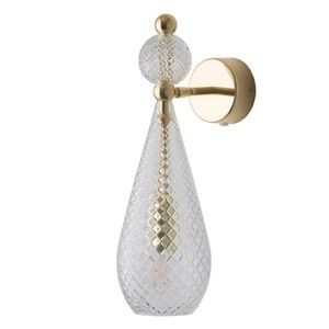 Clear Gold Patterned Crystal Ball Smykke Wall Lamp Ebb & Flow Design Essentials