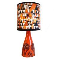 lush orange linden lampshade base orange design essentials saffron walden