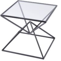 black pyramid side table design essentials