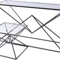 black pyramid console tables design essentials